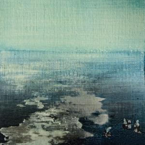Peinture polaroid imaginaires papier toilé 45