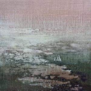 Peinture polaroid imaginaires papier toilé 55