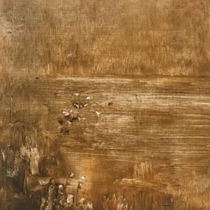 Peinture polaroid imaginaires papier toilé 48