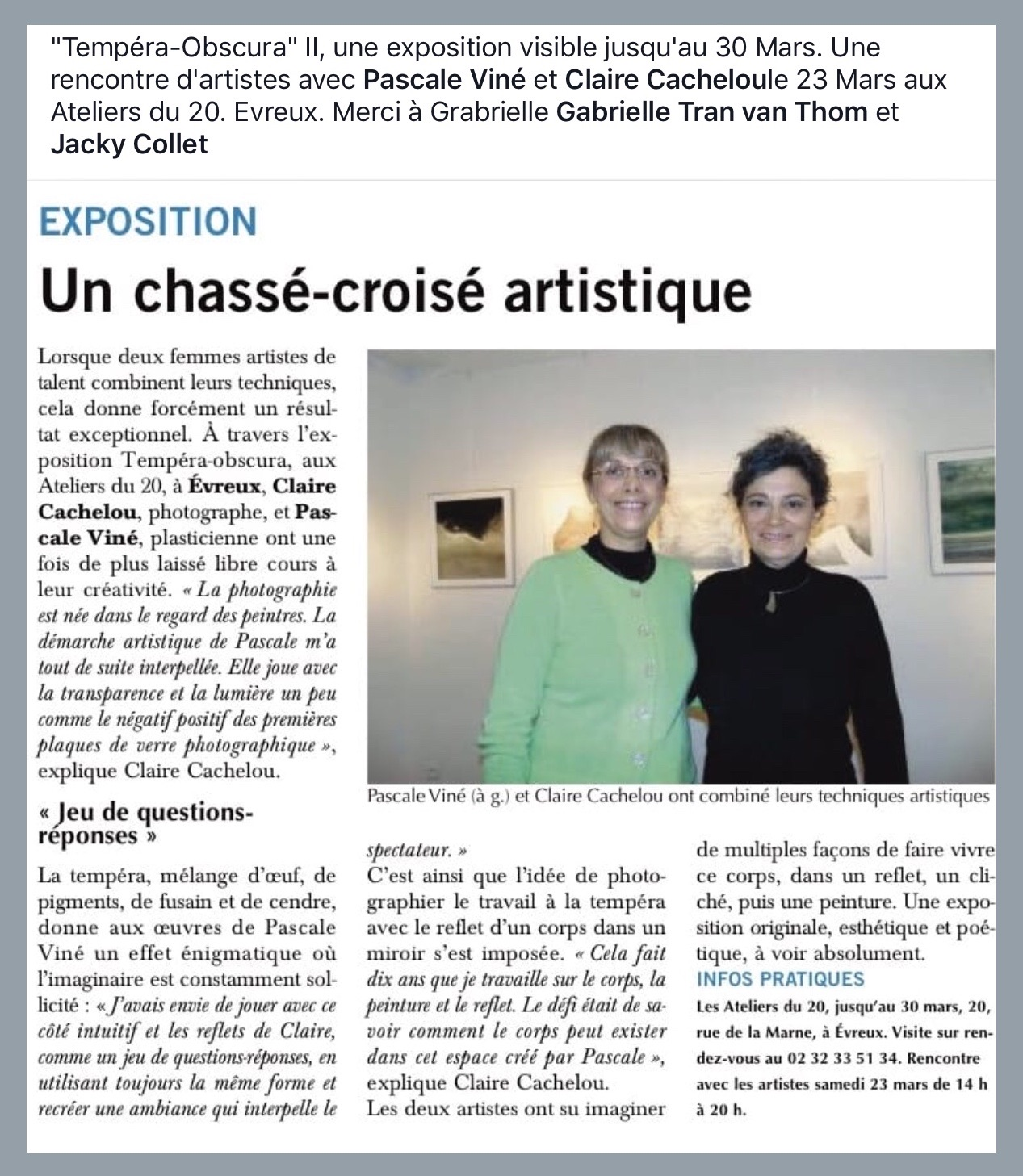 Article Paris Normandie 8 mars 2019