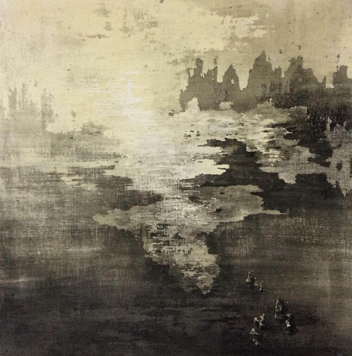 Tempera sur papier toilé 30x30 cm 19