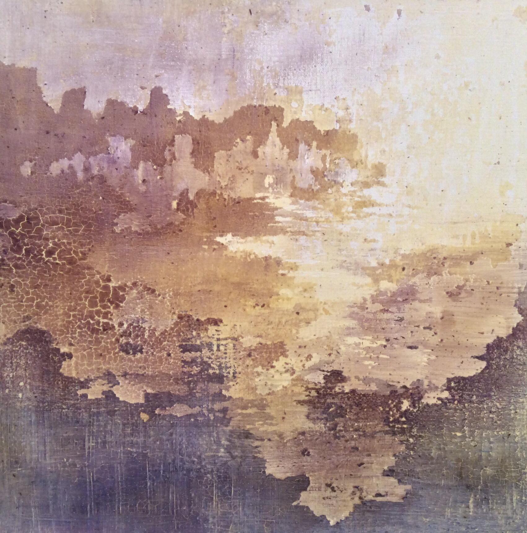 Tempera sur papier toilé 30x30 cm 26